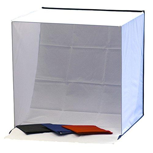 Phot-R 50x50x50cm Photo Tente Cube Lumière Softbox Diffuseur Tente avec 4 milieux (Noir, Bleu, Rouge et Blanc)