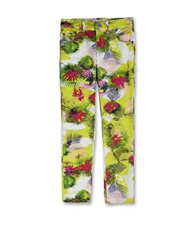 Sanetta Pantalone Bimba [Verde/Bianco]