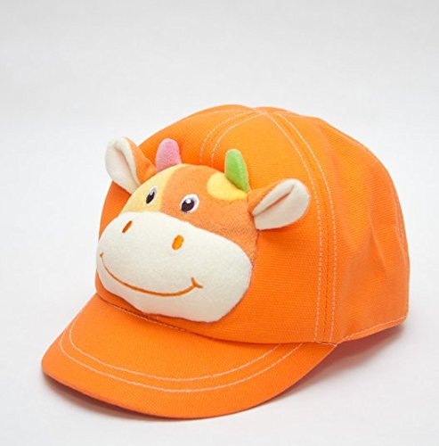 Capped Children Anthurium Orange Hat Animal Hats With Adjustable Strap On The Back front-491470