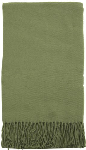 """Soft Cashmere-Like Woven Throw 50"""" X 70"""" Sage front-994474"""