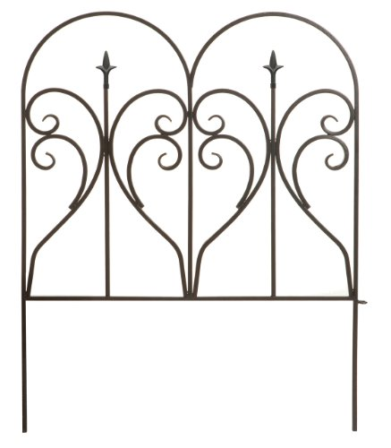 Panacea 87405 Scroll and Finial Border Fence, Black