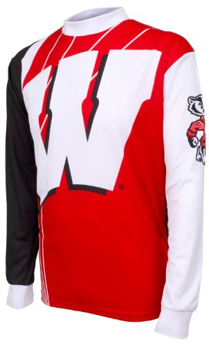 NCAA Wisconsin Badgers Mountain Bike Cycling Jersey (Team, X-Large) (Wisconsin Cycling Jersey compare prices)