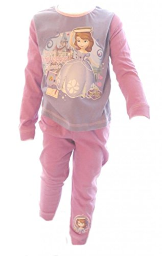 Sofia The First Disney Girl'S Purple Top Pyjamas Age 4-5 Years front-90535