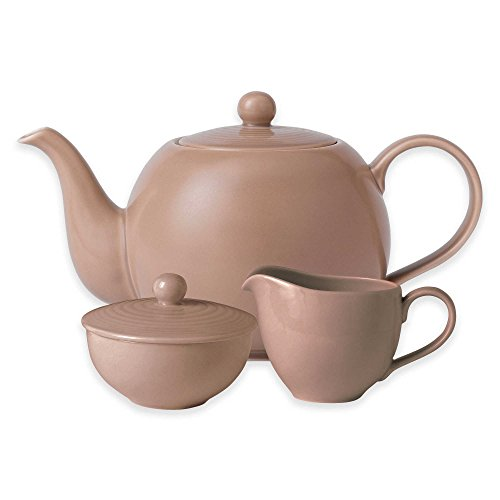 Gordon Ramsay by Royal Doulton Maze 3-Piece Beverage Set in Taupe (Kettle Simplex compare prices)