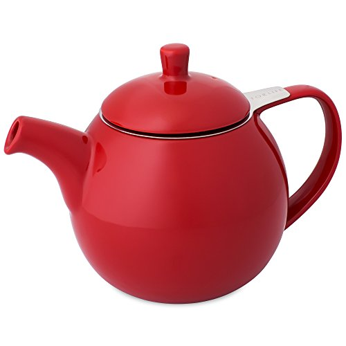 FORLIFE Curve 24-Ounce Teapot with Infuser, Red (Ceramic Teapot With Infuser compare prices)