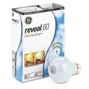 GE 48688-48 60-Watt A19 Reveal Bulbs, 48-Pack