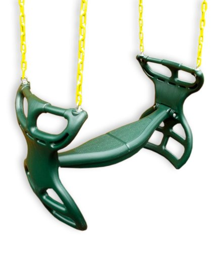 Eastern Jungle Gym Plastic Horse Glider Swing With Coated Chain - Green front-66708