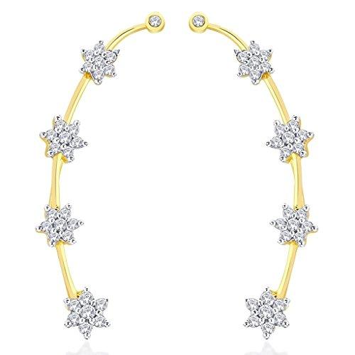 the-jewelbox-gold-plated-nakshatra-flower-ear-cuff-pair