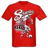 Alexis Sanchez Arsenal FC & Chile Football T-Shirt