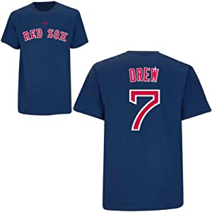 Stephen Drew Boston Red Sox Navy Player T-Shirt by Majestic by Majestic