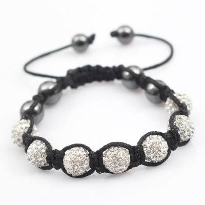 CLEAR Swarovski Crystal Bead BRACELET  7 x 10mm