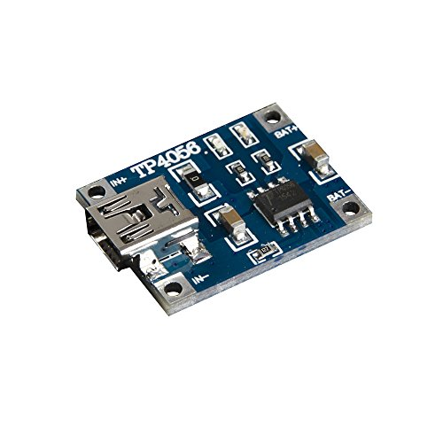 IDUINO 5V Mini USB 1A18650 Lithium Battery Charger Board Module Pack of 2 (Lithium Charger Module compare prices)