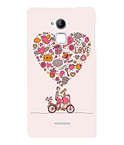 printtech Love Couple Cycle Cute Back Case Cover for Coolpad Note 3 Lite Dual SIM with dual-SIM card slots
