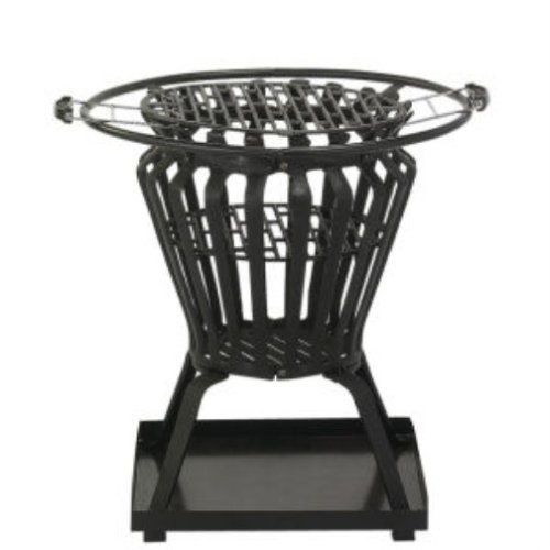 Signa Round Fire Pit with Removable BBQ Grill Plate