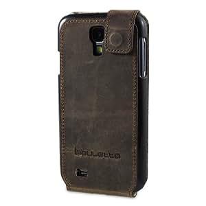 Bouletta FlipCase Antic Coffee Samsung Galaxy S4 i9500 i9505 Echt Leder Hülle Tasche Etui Hülle Flip Case Handytasche Schutzhülle - Handarbeit 100% Passgenau Premiumleder