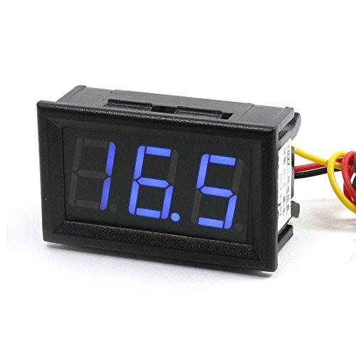 Yb27 Dc 0-10V 7-Segment 3-Digit Blue Led Digital Display Voltmeter