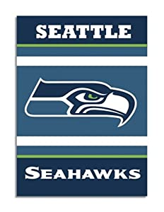 NFL Seattle Seahawks 2-Sided 28-by-40-Inch House Banner by BSI