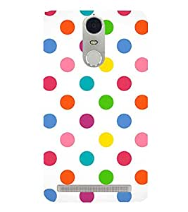 Fuson Premium Colorful Circles Printed Hard Plastic Back Case Cover for Lenovo K5 Note