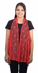 Romano Women's Trendy Red Shrug Top