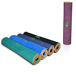 "Aurorae Yoga Mat / Towel, ""Synergy"" the Original Super Deluxe Slip Free Yoga Mat. Great for Vinyasa, Ashtanga, Bikrim/Hot Yoga. Bonds Our 5mm Per Yoga Mat with Our Lush Ultra Absorbent Slip Free Microfiber Towel. No More Slipping. US Patent Protected"