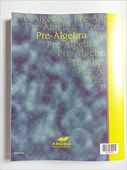 Abeka book pre-algebra solution key - 8th Grade