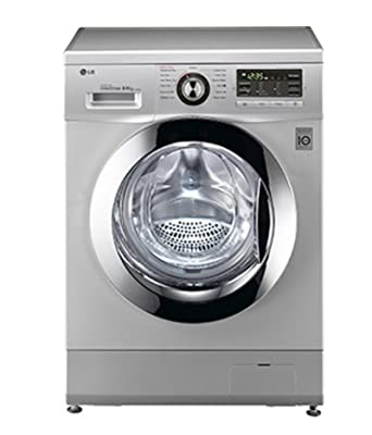 LG F1496ADP24 Six Motion Direct Drive Fully-automatic Front-loading Washing Machine (8 Kg, Silver)