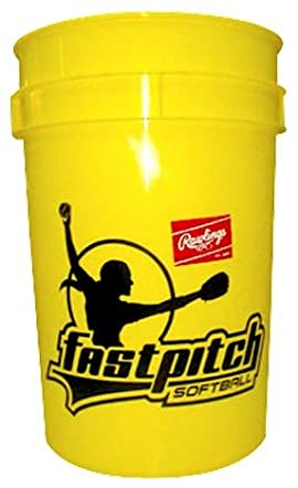 Rawlings BUCKOLFPX Fast Pitch Practice Softballs in Bucket (18 Balls Included)
