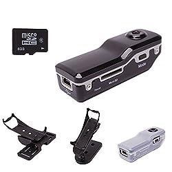 FELEEZ(TM)Mini HD-DV DVR Hidden Spy Video With 8GB Memory