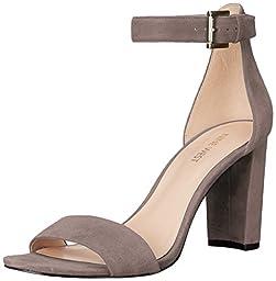 Nine West Women\'s Nora Suede Dress Sandal, Grey, 6.5 M US