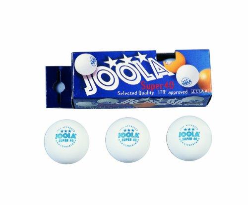 JOOLA Super 3-Star 40mm Balls - Pack of 3 (White)