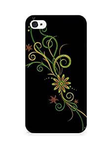 Amez designer printed 3d premium high quality back case cover for Apple iPhone 4s (Abstract Dark 1)