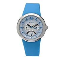 Philip Stein Women's F43S-BL-TQ Quartz Stainless Steel Blue Dial Watch by Philip Stein