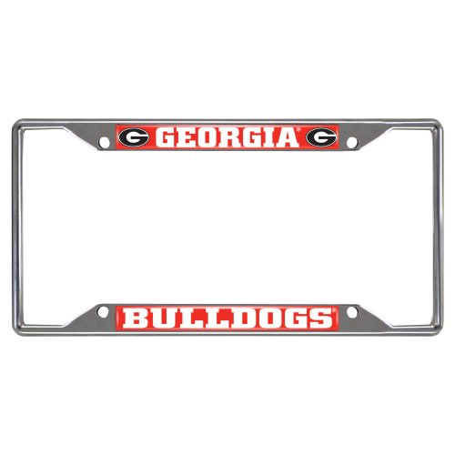 FANMATS NCAA University of Georgia Bulldogs Chrome License Plate Frame (Bulldogs License Plate compare prices)