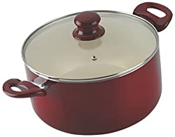 Alda Ceramic Coating Casserole 24cm With Glass Lid Cookware Induction friendly