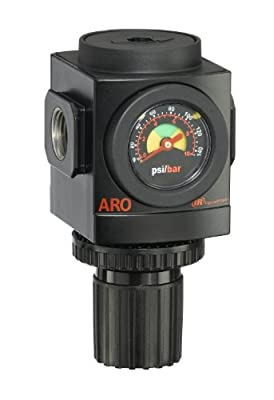 "ARO R37341-600-VS Air Regulator 1/2"" NPT, w/ Gauge - 250 psi Max Inlet"