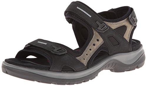 ECCO Women's Yucatan Sandal,Black/Mole/Black,40 EU (US Women's 9-9.5 M)