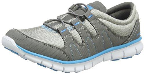 Gola Solar, Scarpe Sportive Indoor Donna, Grigio (Grey/Blue), 36 EU