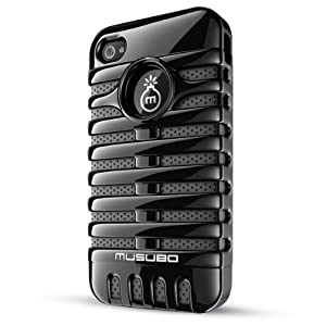 Musubo Retro  Case for iPhone 4/4S-Black