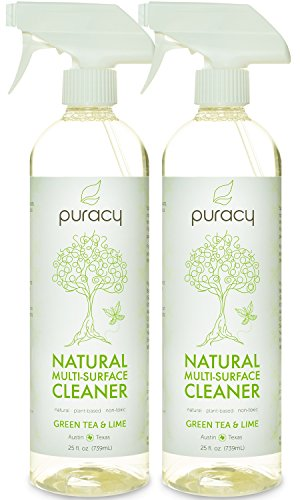 Puracy Natural All Purpose Cleaner - THE BEST Household Cleaner - Streak-Free Multi-Surface Spray - Superior Results on Glass & Stainless Steel - Child & Pet Safe - No Harsh Chemicals - 25 oz - 2-pack