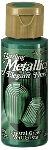 DecoArt Dazzling Metallics 2-Ounce Crystal Green Acrylic Paint (Green Metallic Paint compare prices)