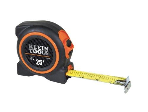 Klein Tools 93225 25 Foot Magnetic Double Hook Tape Measure