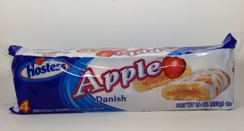 Hostess Apple Danish 16 Oz. Pack (4 Danish)
