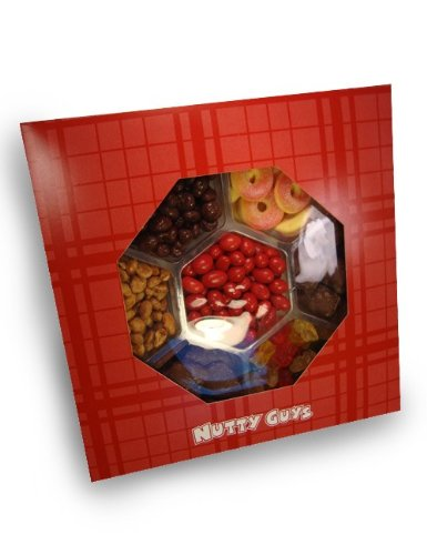Nutty Guys Holiday Gift Candy Tray: 2 Lb. 7 Part