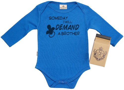 Sr - Demand A Brother Baby Grow 100% Organic 12-18M Blue In Milk Carton front-1026542