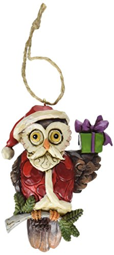 Jim Shore for Enesco Heartwood Creek Christmas Owl Ornament, 3.875-Incg