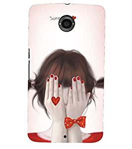PRINTSHOPPII SAD GIRL Back Case Cover for Motorola Google Nexus 6::Google Nexus 6