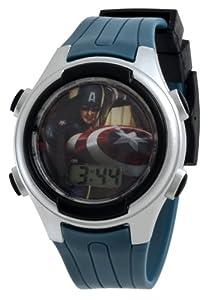 Captain America Kids' CPT005T Power Shield Digital Gift Tin Set Watch
