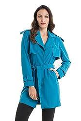 Kazo Women's Reefer Jacket (112753INDIGOxs)