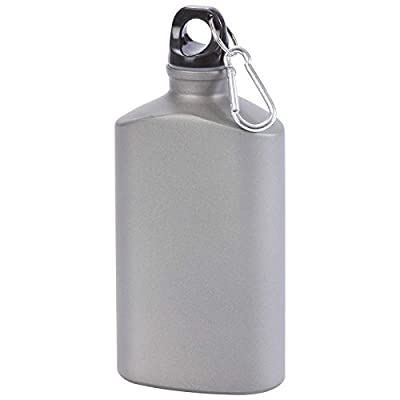 20oz Aluminum Canteen Carbiner Clip Water Bottle Sports Hunting Camping Military
