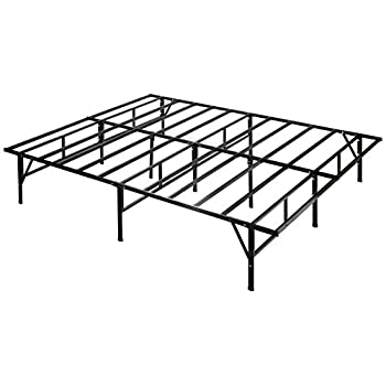 Zinus 14 Inch Easy To Assemble SmartBase Mattress Foundation / Platform Bed Frame / Box Spring Replacement, Queen
